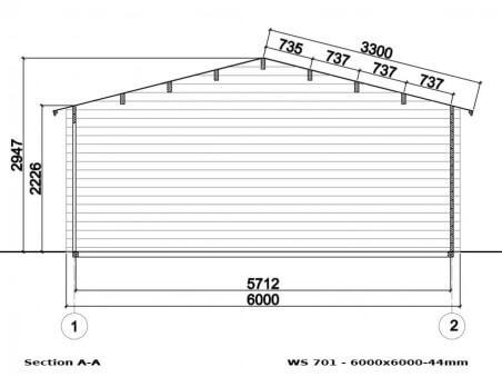 Garage en bois 36m² WS701 | WSN