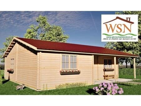 Chalet en bois Normandie 90m2 WS1272 par WSN