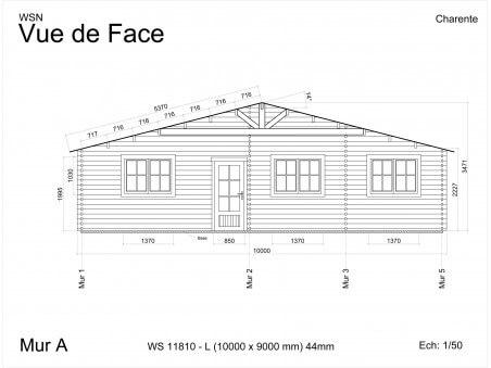 Chalet en bois Charente 90m2 WS 11810-L par WSN