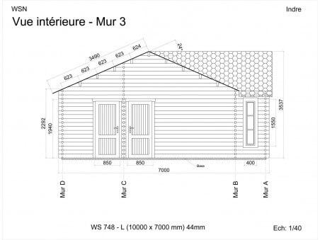 Chalet en bois Indre 70m2 WS748 par WSN