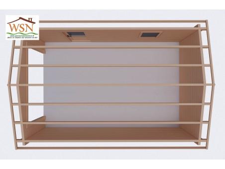 Garage en bois 19,8m² sans porte GA8010-24 par WSN