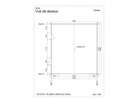Garage 33m2 sans porte 5500x6000-passage 3500 | WSN