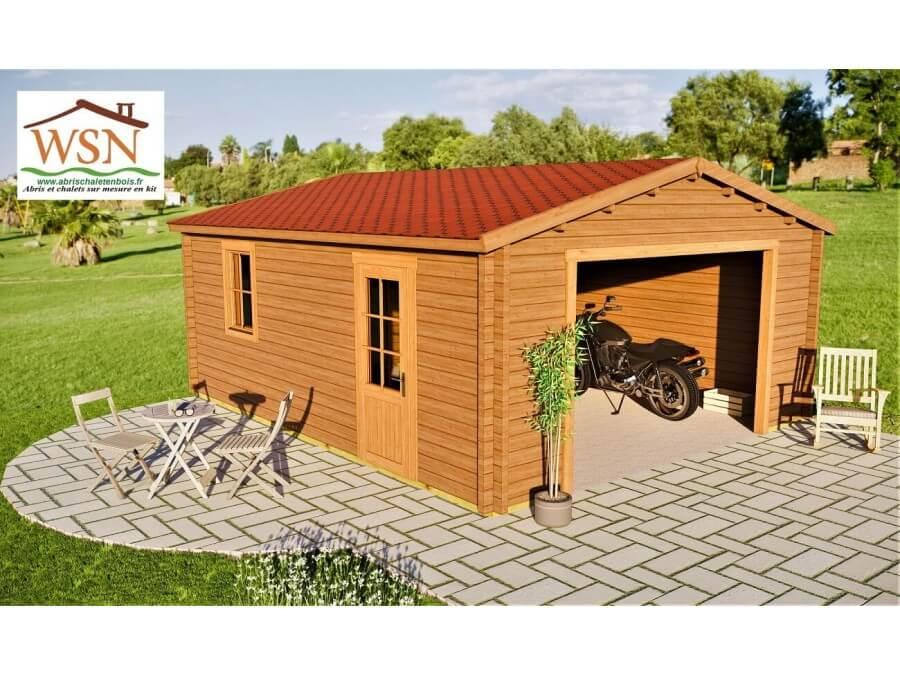 Garage 30m2 sans porte 5000x6000-passage 3000 | WSN