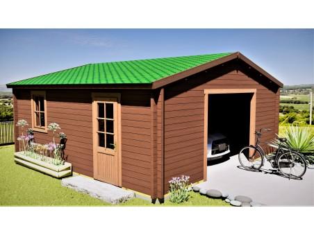 Garage 36m2 sans porte 6000x6000-passage 2400 | WSN