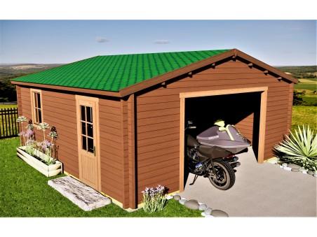 Garage 36m2 sans porte 6000x6000-passage 3000   WSN