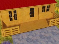 Terrasse en bois (44mm-8000x2000)