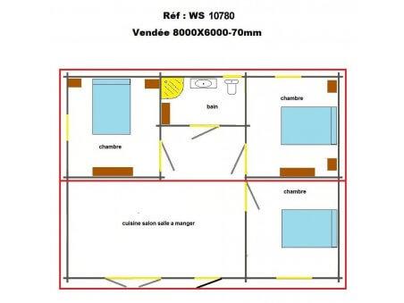 VENDEE 48m² (8000x6000-70mm) WS10780