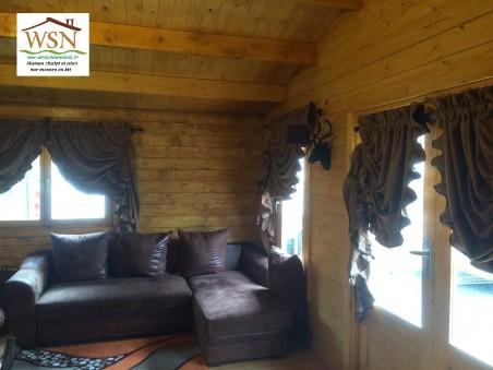 Bungalow en bois  CHARENTE 25m² Dim. (5000X5000-70mm)