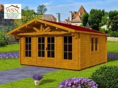 Abri en bois CHARENTE 19,80m²  Dim.  (4500X4400-44mm)