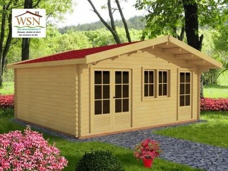 Bungalow en bois  MOSELLE 31,2m² Dim.  (6000X5200-44) 1 pièce