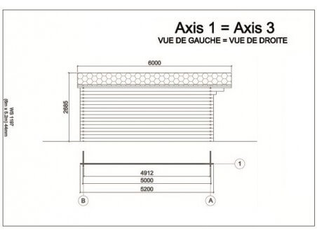 MOSELLE 31,2m² (6000X5200-44) 1 pièce WS1197
