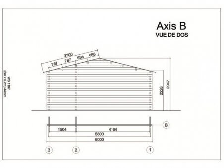 MOSELLE 31,20m² (6000X5200-44mm) 2 pièces WS1197S