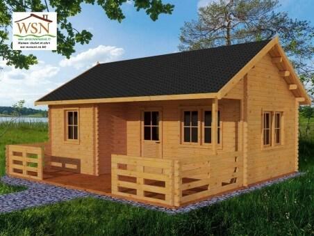 Bungalow en bois  NORMANDIE 35m² Dim. (7000X5000-44mm)