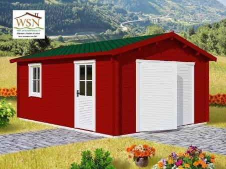 Garage en bois 19,72m² (3400X5800-70mm)