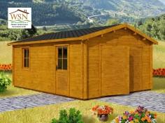 Garage en bois 25,52m² (4400X5800-44mm) WS1381