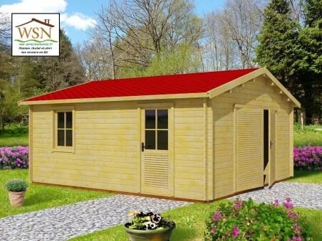 Garage en bois 30,16m²  Dim. (5200X5800-44mm)