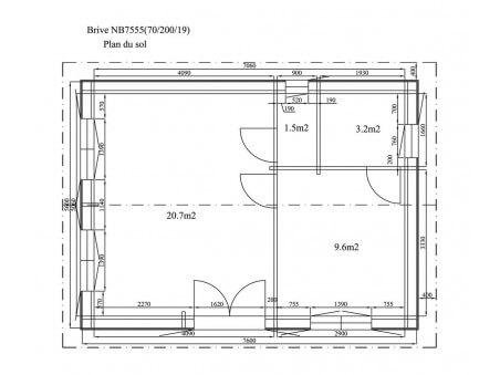 BRIVE 43m² (7678X5678-70mm) WS4980