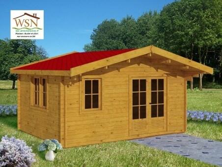 Abri en bois AVEYRON 12m² Dim. (3500X3500-44)