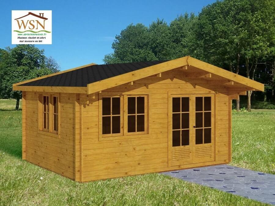 garage bois 20m2 44mm. Black Bedroom Furniture Sets. Home Design Ideas