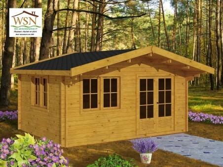 Bungalow en bois  AVEYRON 20m² Dim.  (5000X4000-70mm)