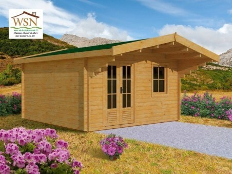 Abri en bois Aveyron 19,35m² Dim. (4300x4500-70mm)