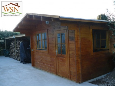 Abri en bois VAR 12m² Dim. (4000x3000-44)