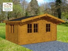 Abri en bois VAR 19,78 m²  Dim. (4600X4300-44mm)