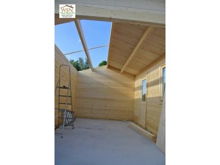 Garage en Bois 17m² (3200X5200-44mm) WS682
