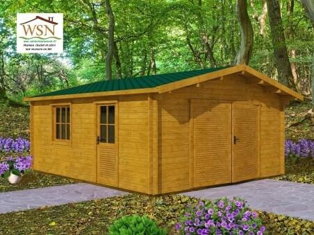 Garage en bois 30m² (5000X6000-44mm) WS693