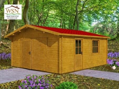 Garage en bois 30m² ( 5000X6000-70mm ) WS695