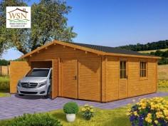 Garage en Bois 36m² (6000X6000-70mm) WS705