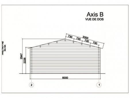 Garage en Bois 36m² WS 705 | WSN