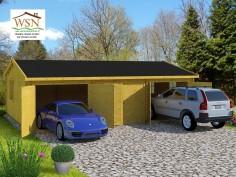 Garage en Bois 54m² 3 places (6000X9000-70mm) WS714