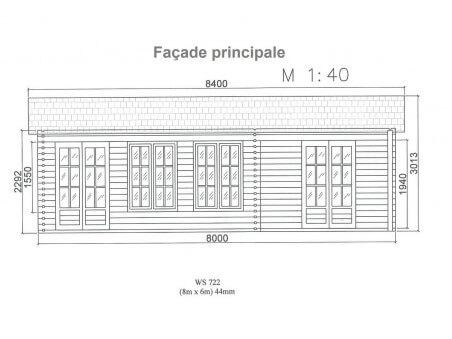 DORDOGNE 45m² (8000x6000-44mm) WS722