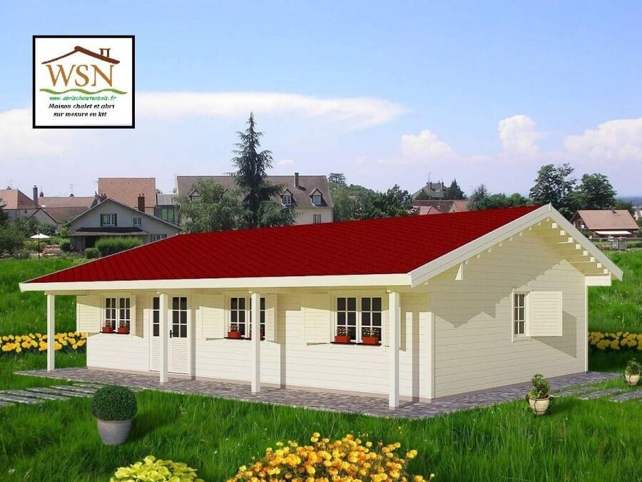 Maison En Bois Kit 100m2 70mm Ws 7257 Wsn