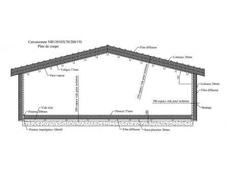 CARCASSONNE 124m² (13100X10600-70) WS7367