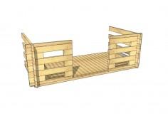 Terrasse en bois 4,5m2 (44mm-3000x1500)