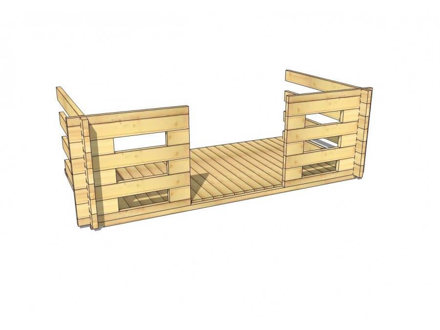 Terrasse en bois 4,5m2 (70mm-3000x1500)