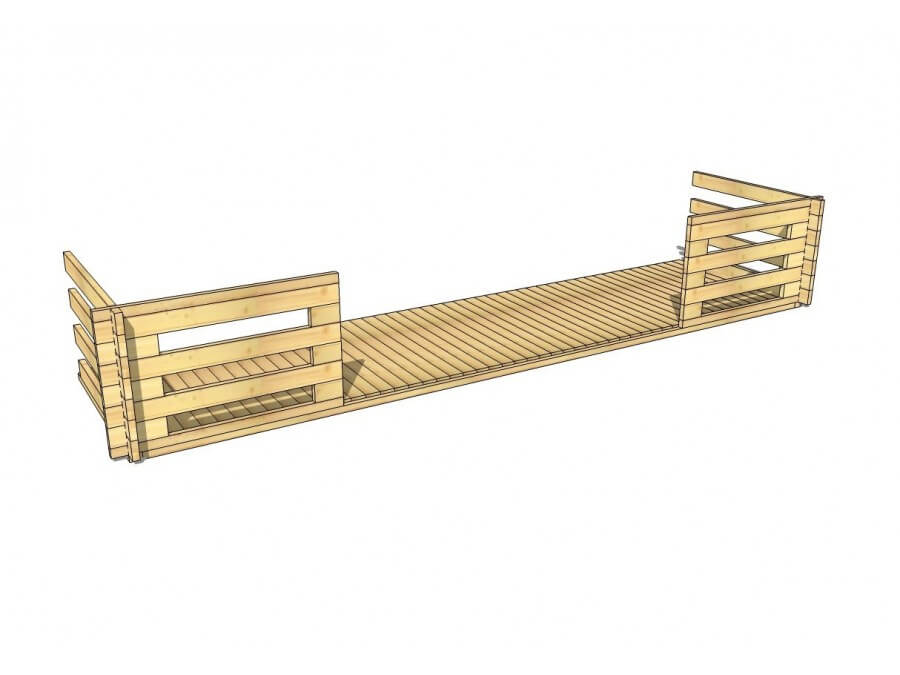 Terrasse en bois 9m2 (44mm-6000x1500)