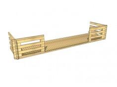 Terrasse en bois 9m2 (70mm-6000x1500)