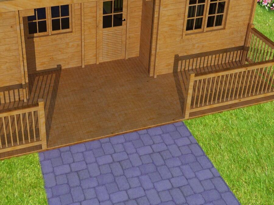 Terrasse en bois Hérault 70mm (10000x1900)
