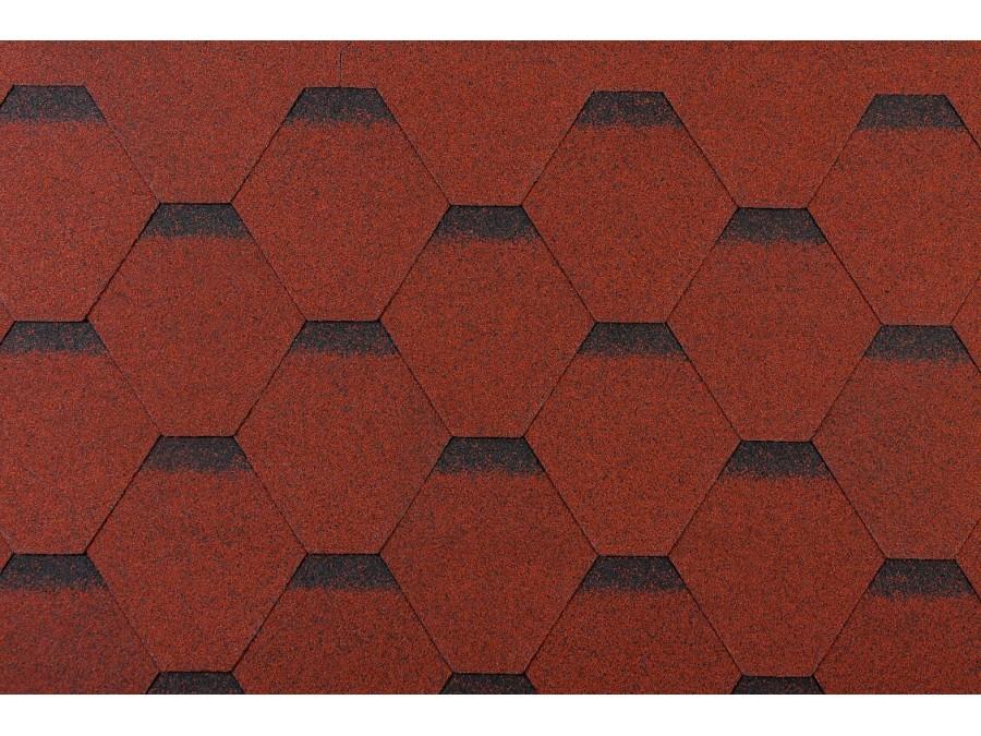11 paquet de 3m² de tuiles rouges/noires en feutre bitumé (33m²)