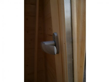 Abri en bois LORRAINE 13,64m²Dim.  (3100X4400+1500-44mm)