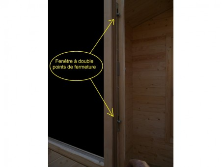 Abri en bois CHARENTE 16m² Dim. (4000X4000-70mm)