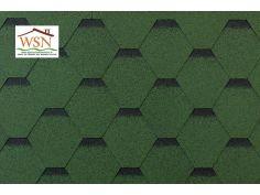 69m2 de tuiles vertes/noires en feutre bitumé (23 paquets de 3m²)