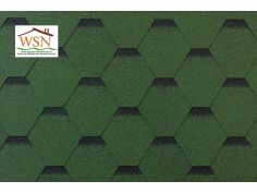 186m2 de tuiles vertes/noires en feutre bitumé (62 paquets de 3m²)