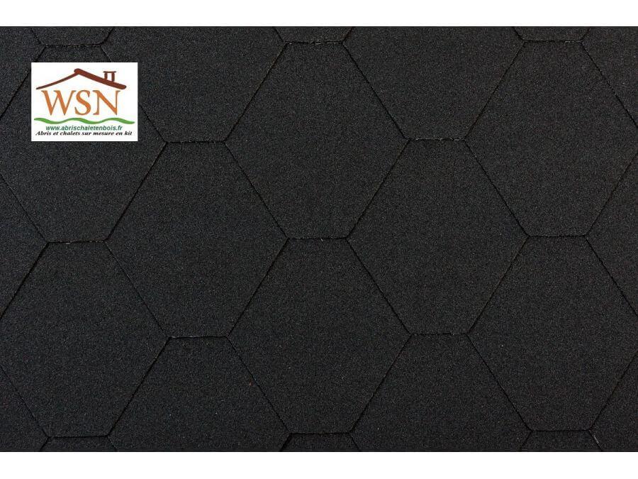 9m2 de tuiles noires/noires en feutre bitumé (3 paquets de 3m²)