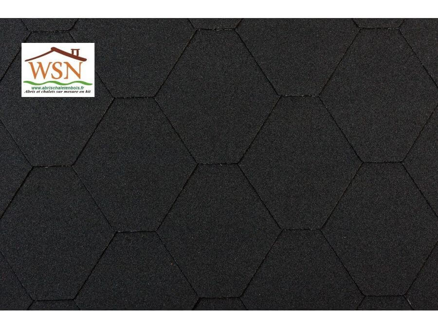 6m2 de tuiles noires/noires en feutre bitumé (2 paquets de 3m²)