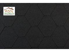 141m2 de tuiles noires/noires en feutre bitumé (47 paquets de 3m²)