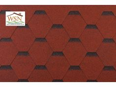 99m2 de tuiles rouges/noires en feutre bitumé (33 paquets de 3m²)